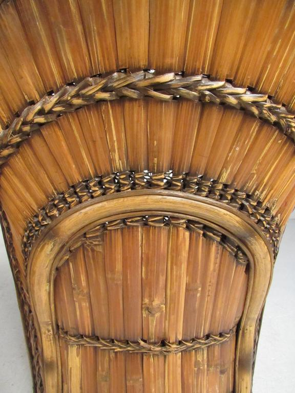 Pair Of Vintage Bamboo Side Chairs By Budji Layug For Sale