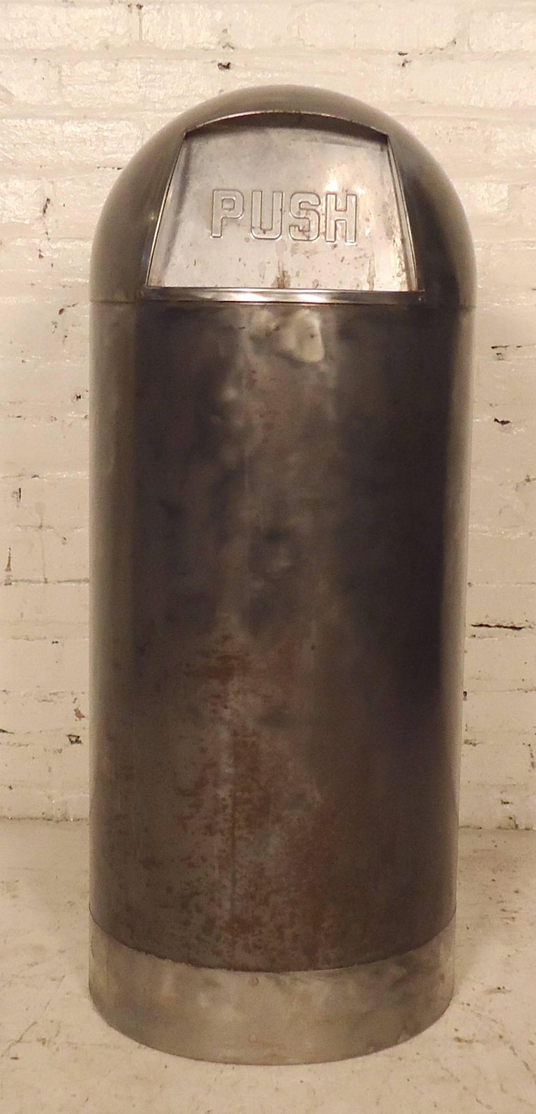 Vintage Quot Bullet Quot Trash Can With Liner For Sale At 1stdibs