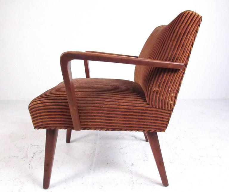 Petite Vintage Modern Armchair For Sale At 1stdibs