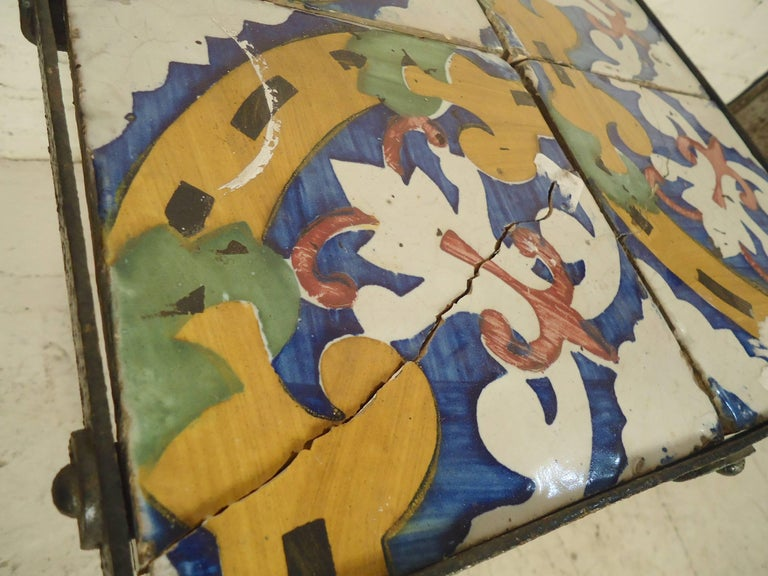 Tile Top Side Table For Sale 1