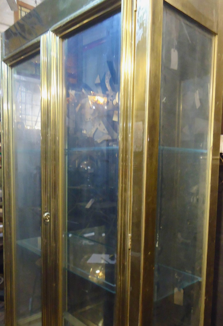 Mastercraft Tall Cabinet In Brass For Sale At 1stdibs