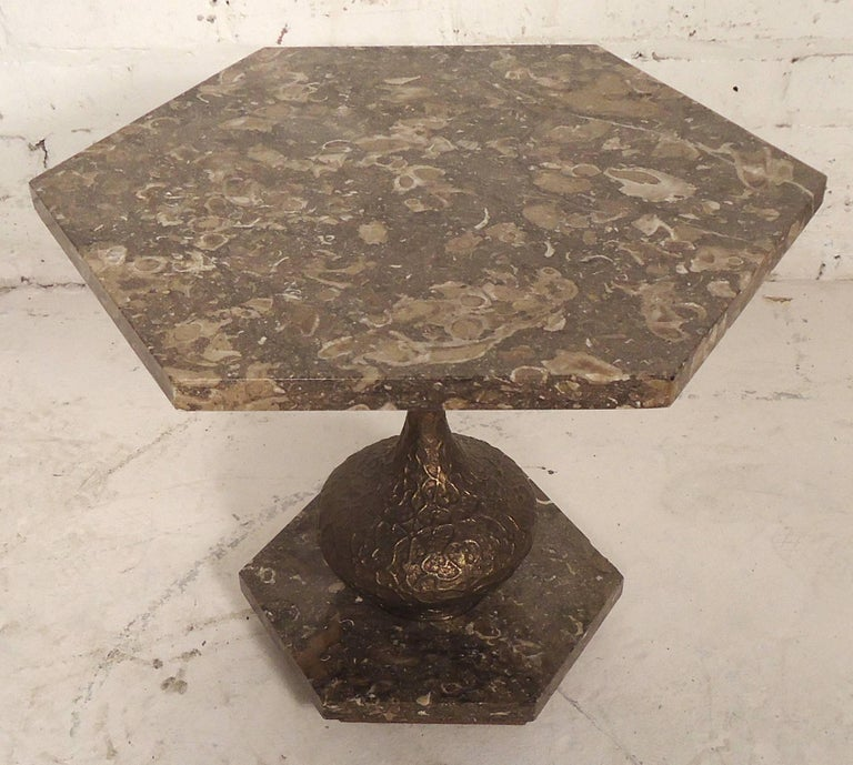 Marble-Top Side Tables For Sale 1