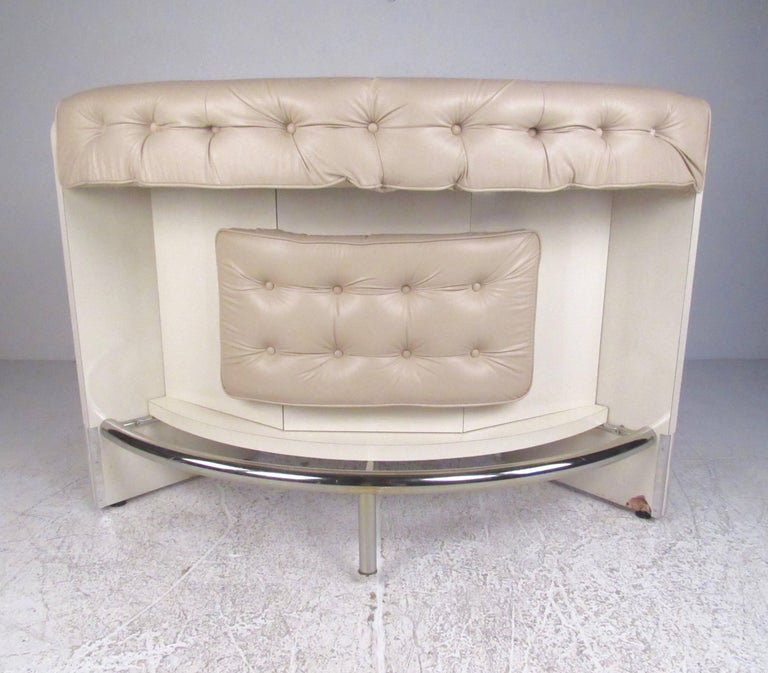 Contemporary Modern Upholstered Dry Bar With Stools For