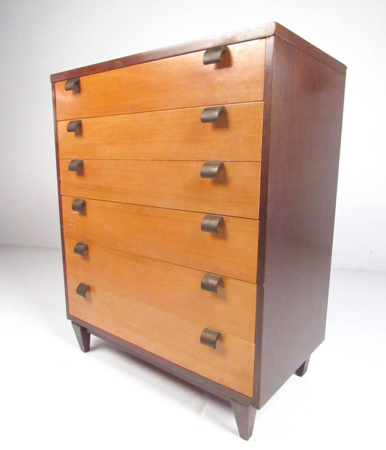 Pair Of Mid Century Modern Bedroom Dressers In The Style Of George Nelson For Sale At 1stdibs