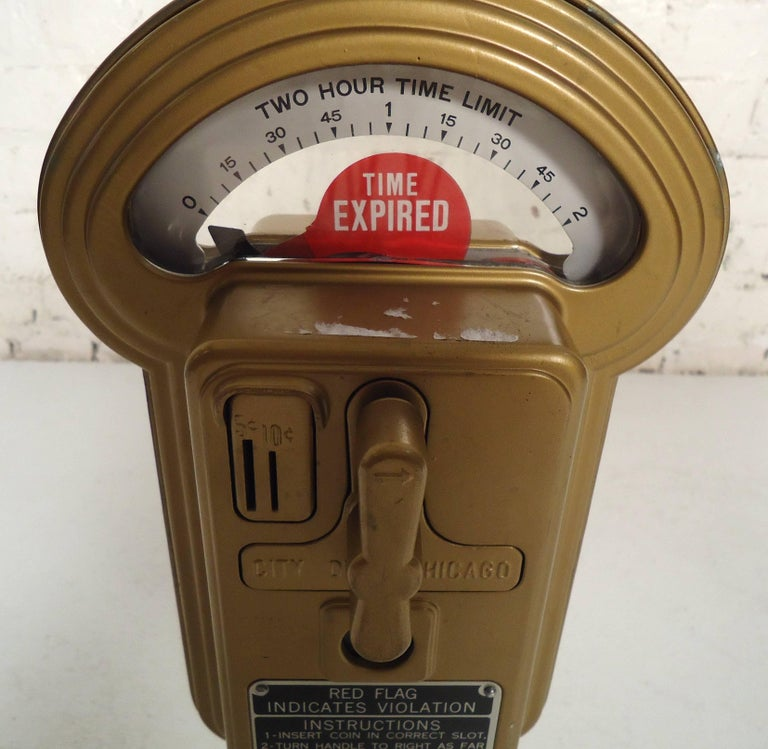 20th Century Vintage Duncan Miller Parking Meter Table Lamp For Sale
