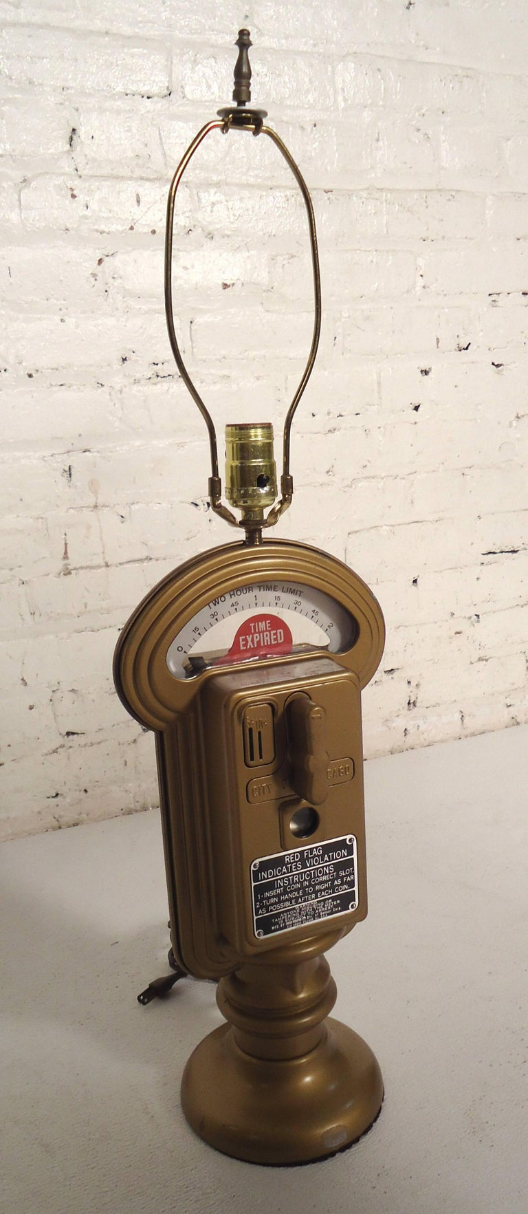 Vintage Duncan Miller Parking Meter Table Lamp In Good Condition For Sale In Brooklyn, NY