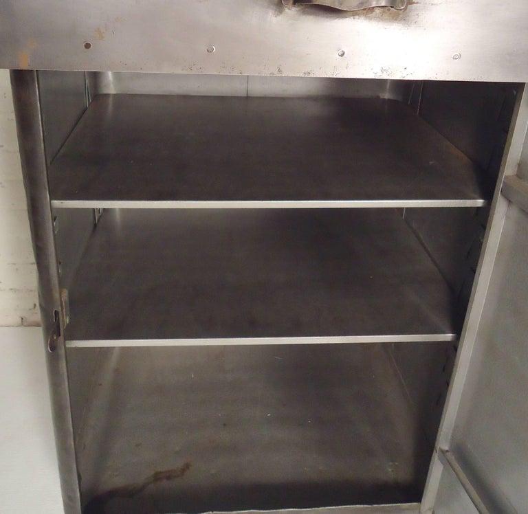 Damaged Kitchen Cabinets For Sale: Restored Metal Factory Cabinet For Sale At 1stdibs