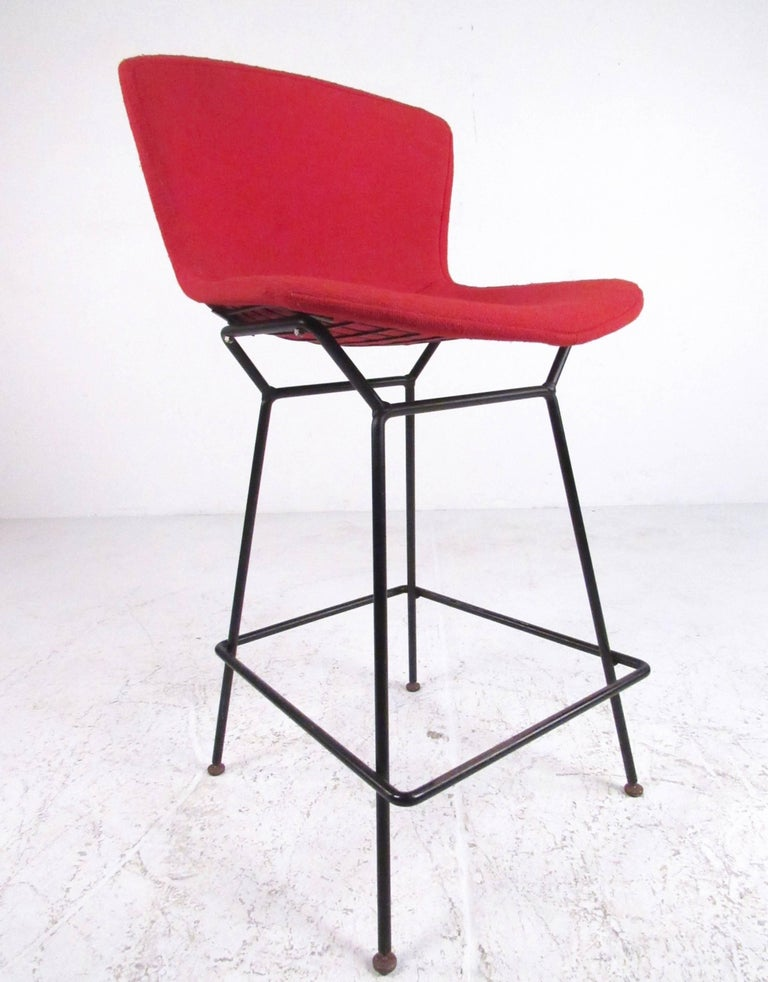 Set of steel wire barstools by harry bertoia for knoll for Knoll associates