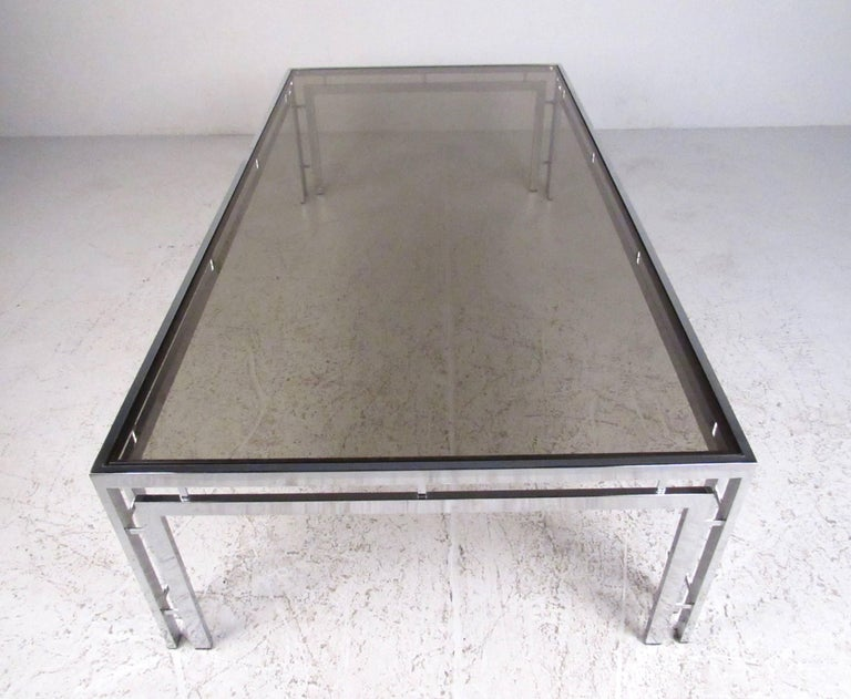 Mid Century Modern Smoked Glass Coffee Table For Sale At