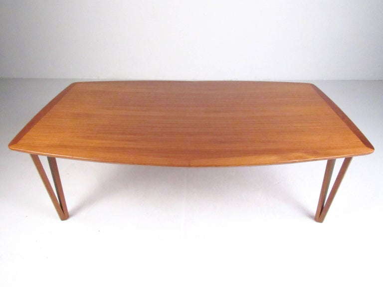 Scandinavian Modern Teak Coffee Table with Hairpin Legs ...