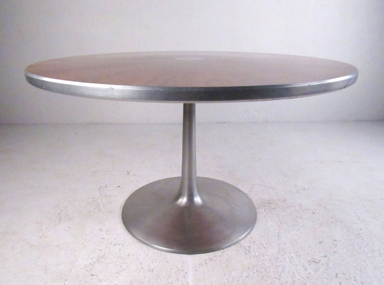 midcentury pedestal dining table by poul cadovius for