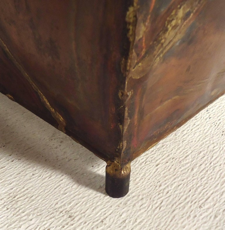 Copper Glass Side Tables For Sale 3