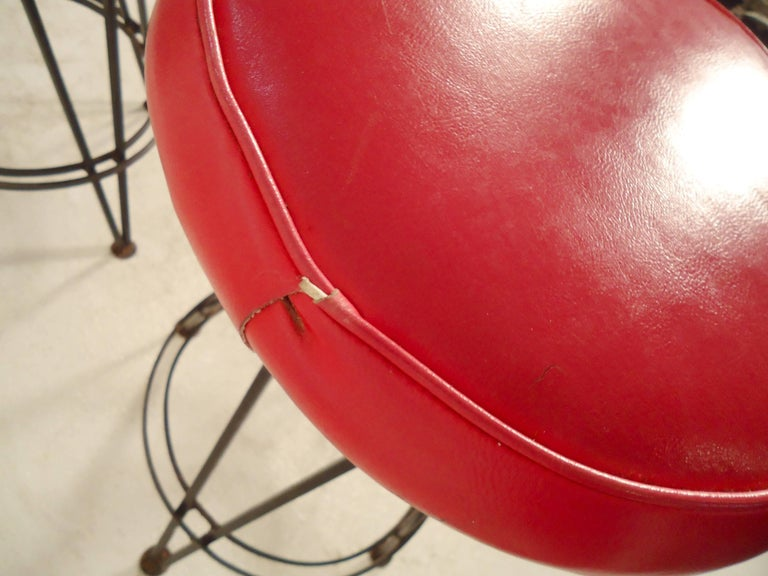 Pair Of Midcentury Stools For Sale At 1stdibs