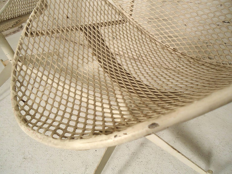 Maurizio Tempestini Double Chair Outdoor Seating In Good Condition For Sale In Brooklyn, NY