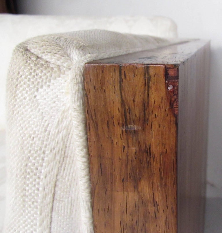Vintage Milo Baughman Rosewood Frame Sofa for Thayer Coggin For Sale 3