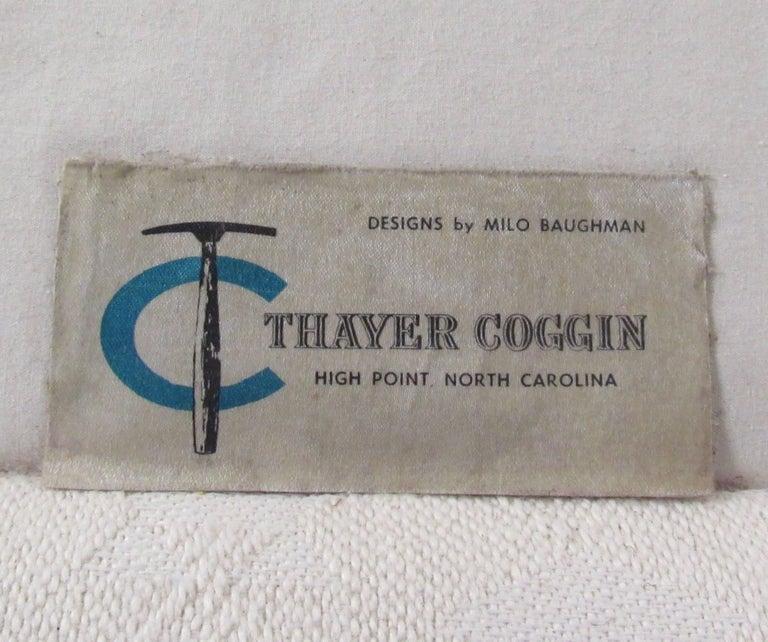 American Vintage Milo Baughman Rosewood Frame Sofa for Thayer Coggin For Sale
