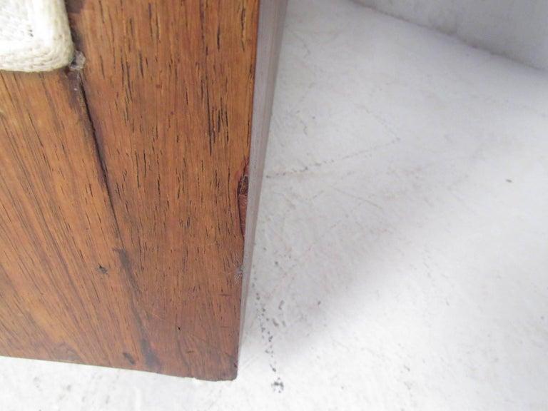 Vintage Milo Baughman Rosewood Frame Sofa for Thayer Coggin For Sale 4