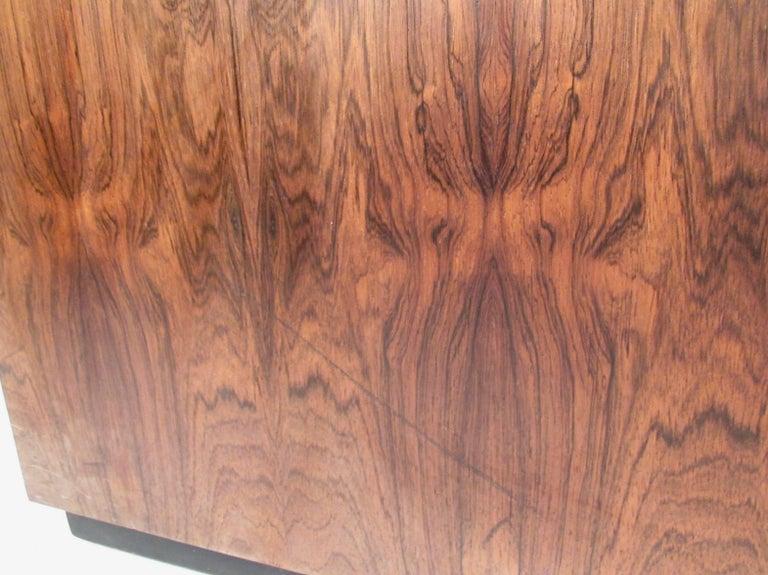 Vintage Milo Baughman Rosewood Frame Sofa for Thayer Coggin For Sale 2