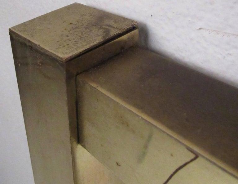 Vintage Modern King-Size Brass Bed Headboard For Sale 3