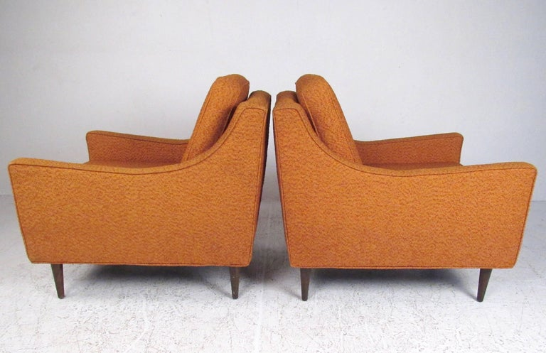 Pair Mid-Century Modern Lounge Chairs In Good Condition For Sale In Brooklyn, NY