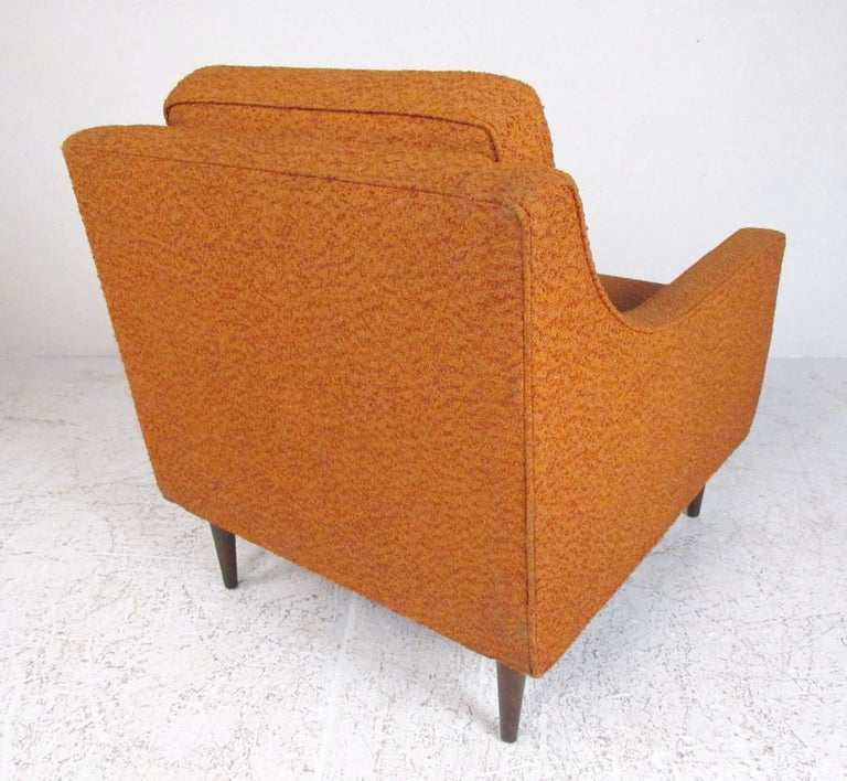 Upholstery Pair Mid-Century Modern Lounge Chairs For Sale
