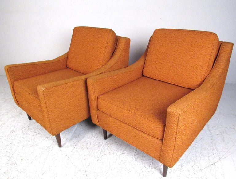 American Pair Mid-Century Modern Lounge Chairs For Sale