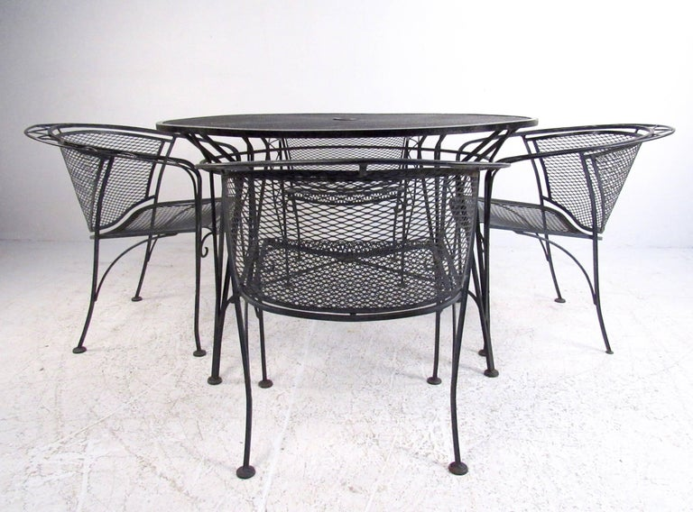 Vintage Patio Set With Table And Chairs Circa 1960s For