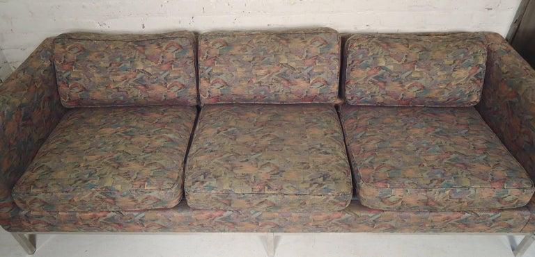 Mid-20th Century Milo Baughman Long Sofa For Sale