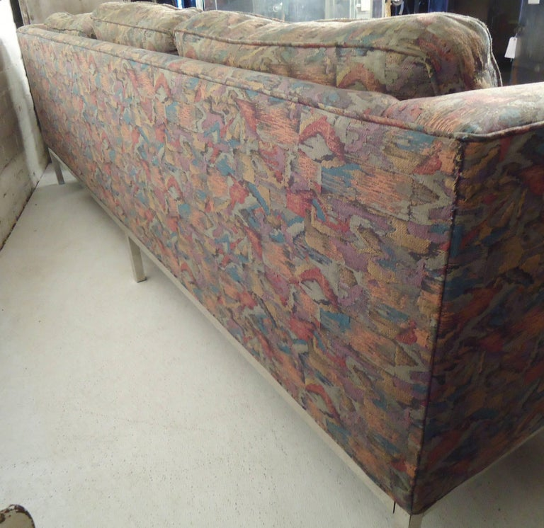Milo Baughman Long Sofa For Sale 1