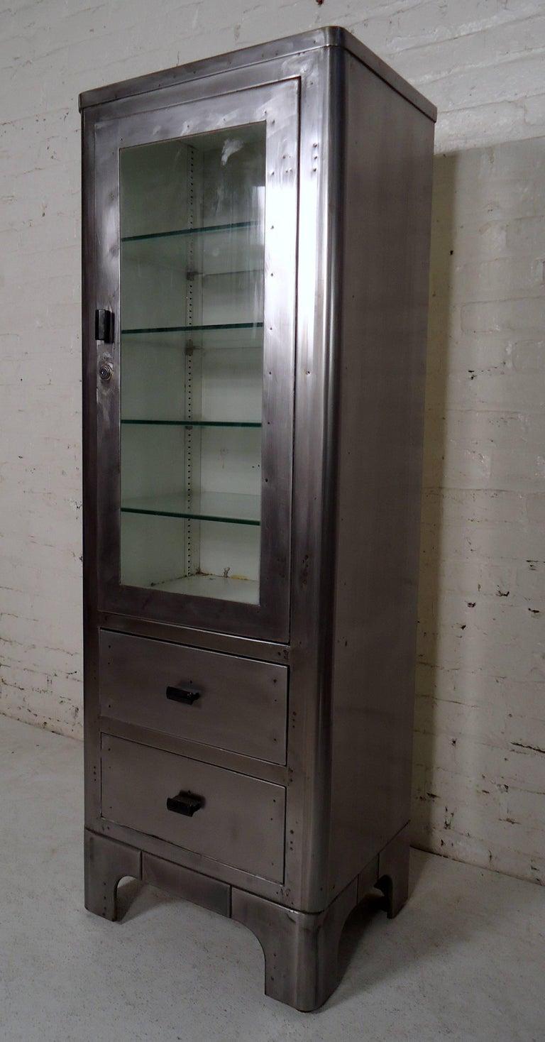 Vintage Modern Industrial Medical Cabinet