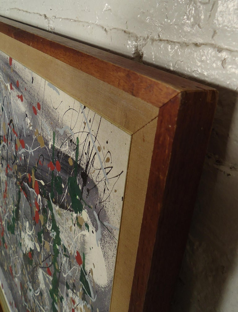 Abstract Splatter Painting Signed by Artist For Sale 3