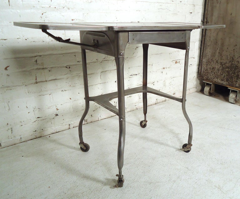 Mid-20th Century Refinished Industrial Side Table For Sale