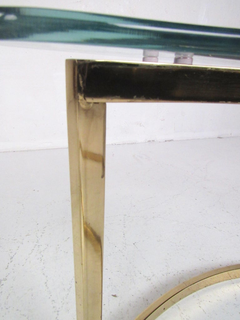Pair of Modern Kidney Shaped End Tables For Sale 1