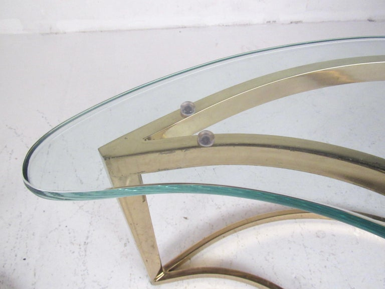 Pair of Modern Kidney Shaped End Tables For Sale 2