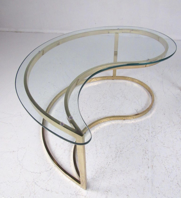 Pair of Modern Kidney Shaped End Tables For Sale 5