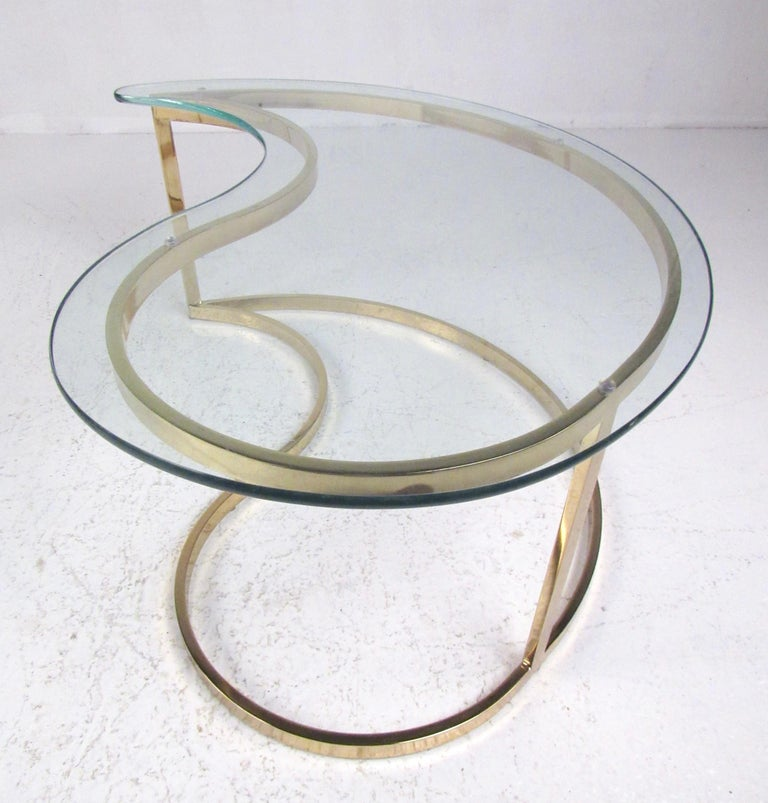 Pair of Modern Kidney Shaped End Tables For Sale 7