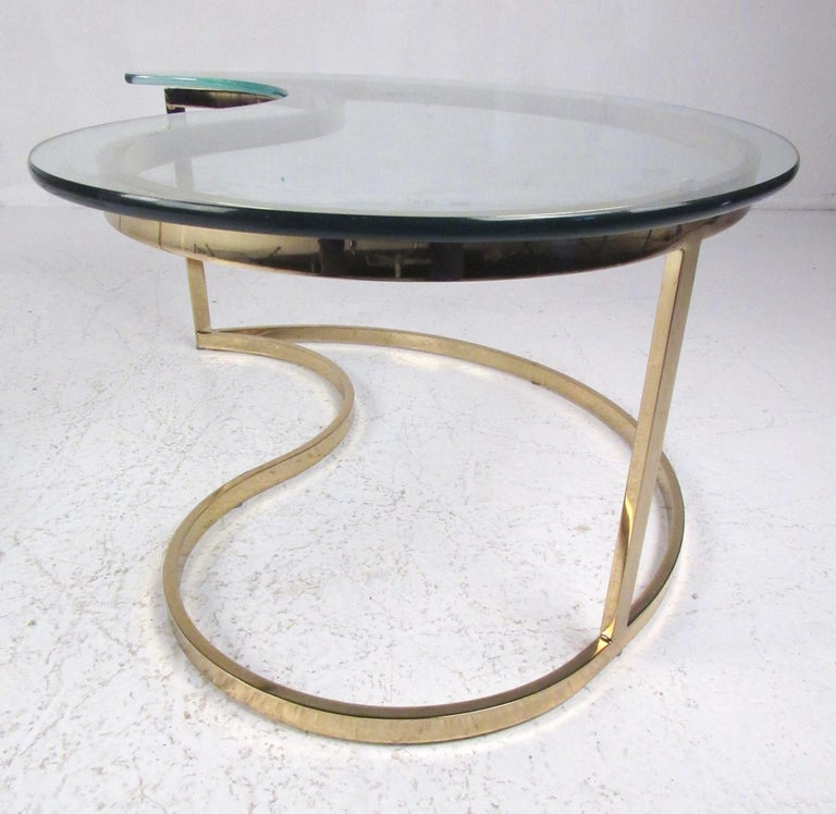 Pair of Modern Kidney Shaped End Tables For Sale 9