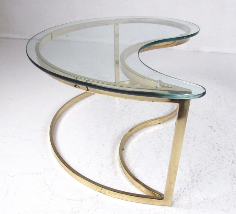 Pair of Modern Kidney Shaped End Tables For Sale 10