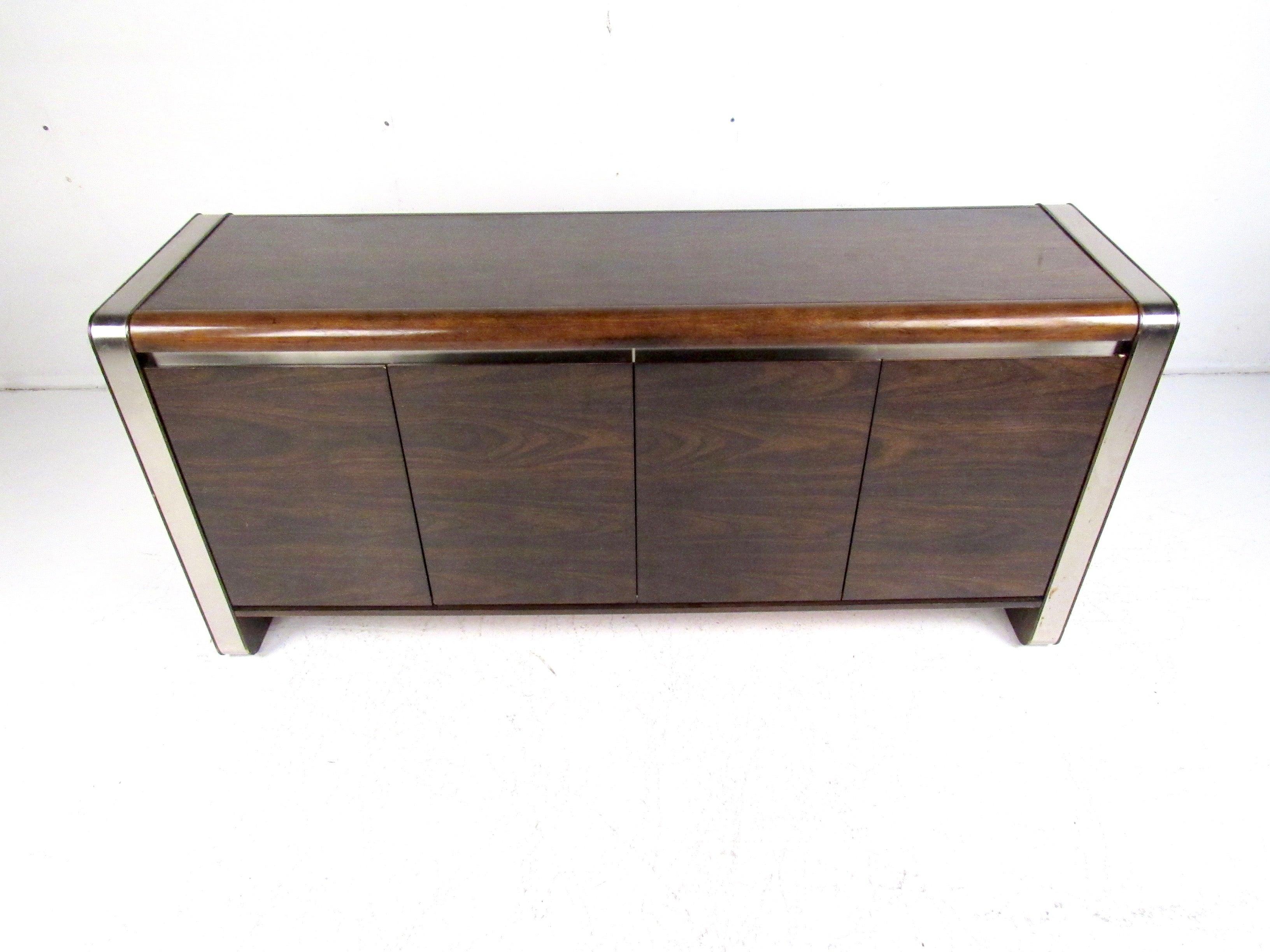 Modern Dark Wood Credenza : Contemporary dark wood office desk popular furniture credenza