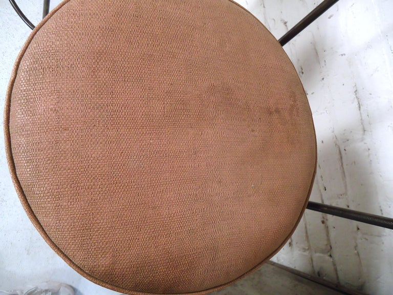 Pair of Industrial Swivel Stools For Sale 2
