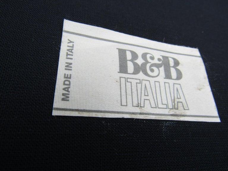 Black Italian Sofa by B&B Italia For Sale 6