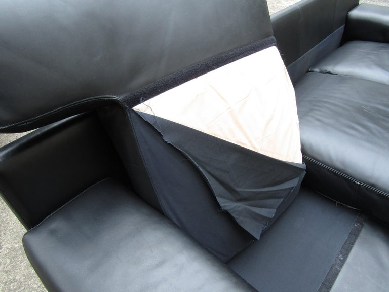 Black Italian Sofa by B&B Italia For Sale 7