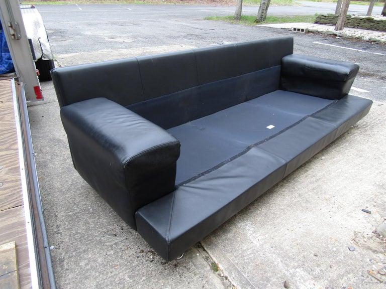 Black Italian Sofa by B&B Italia For Sale 8