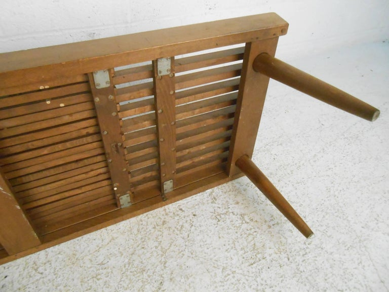 Wood Expanding Slat Coffee Table For Sale