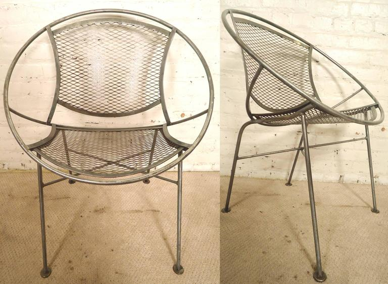 Brilliant Pair Mid Century Restored Hoop Chairs Bralicious Painted Fabric Chair Ideas Braliciousco
