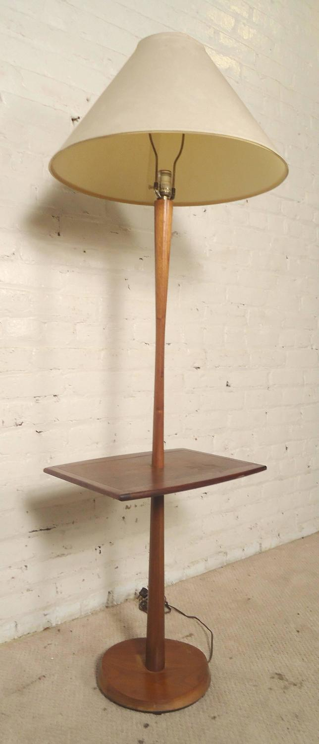 midcentury floor lamp with side table for sale at 1stdibs. Black Bedroom Furniture Sets. Home Design Ideas