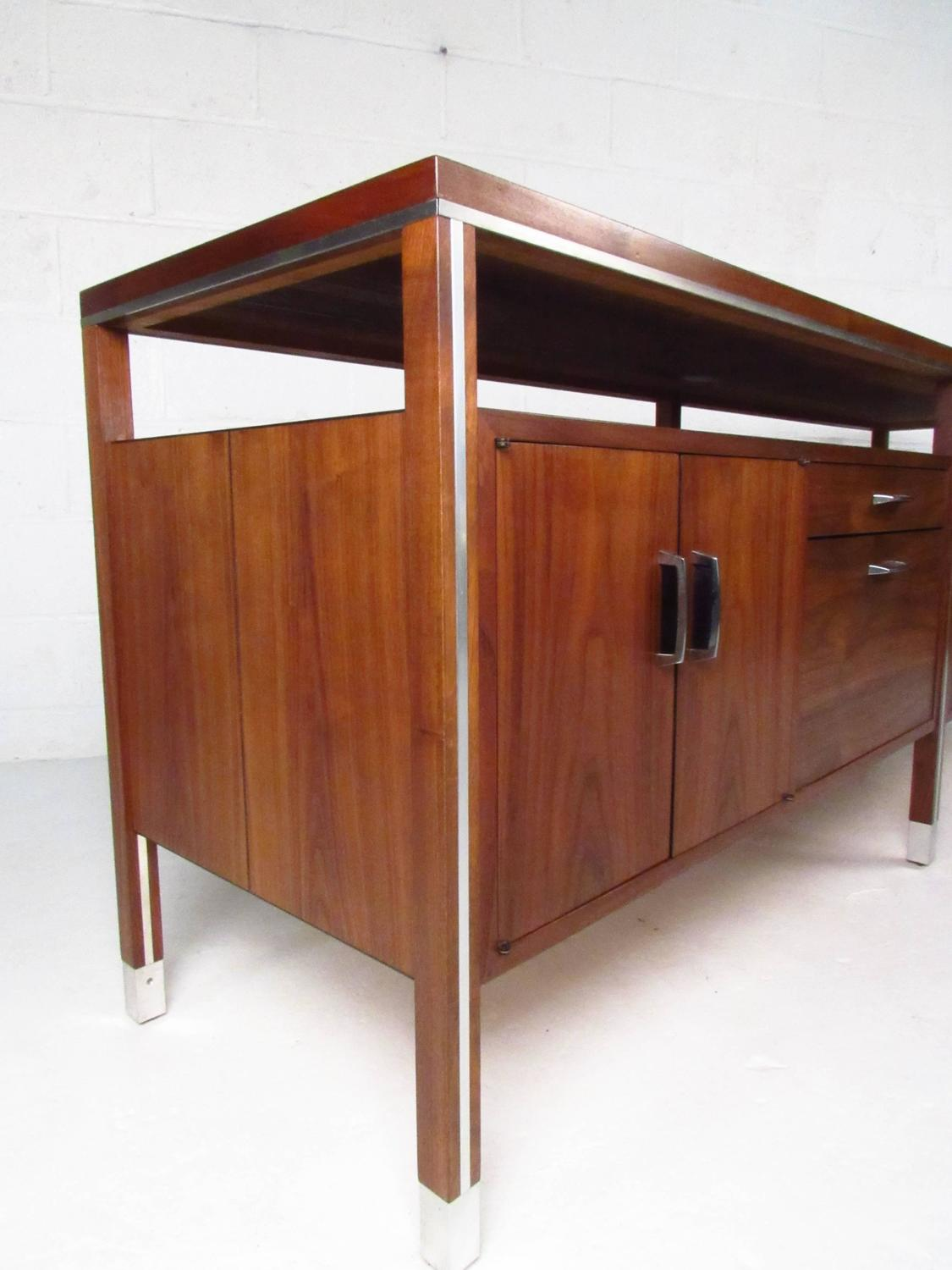 mid century modern office credenza by directional at 1stdibs