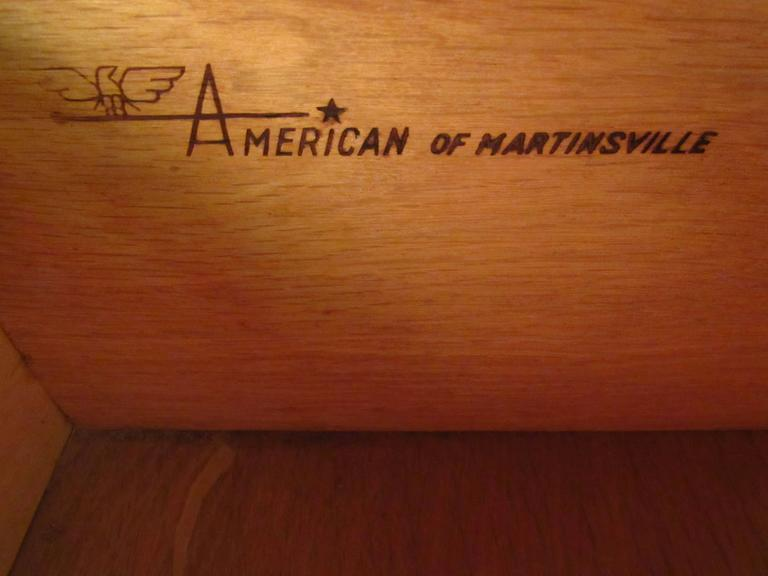 Mid-20th Century Mid-Century Modern Nine-Drawer Dresser by American of Martinsville For Sale