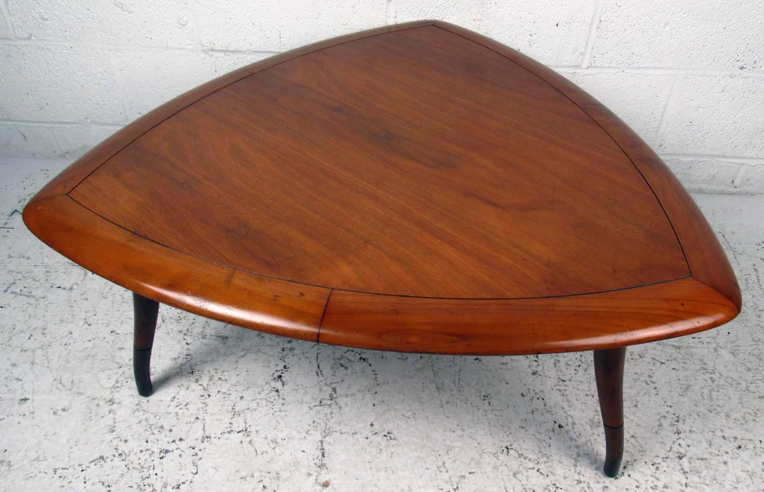 Midcentury Triangular Coffee Table By Tomlinson For Sale At 1stdibs