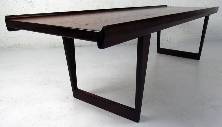 Midcentury Danish Sled Leg Coffee Table 2